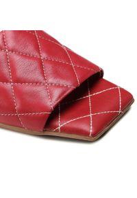 Ann Mex - Klapki ANN MEX - 0006 Bordo. Okazja: na co dzień. Kolor: czerwony. Materiał: skóra. Sezon: lato. Styl: casual