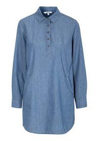 Cellbes Tunika z bio bawełny denim blue female niebieski 42/44. Kolor: niebieski. Materiał: bawełna, denim. Długość rękawa: długi rękaw. Długość: krótkie