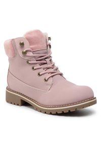 Jenny Fairy - Trapery JENNY FAIRY - WS722-28A Pink. Kolor: różowy. Materiał: skóra, materiał. Szerokość cholewki: normalna