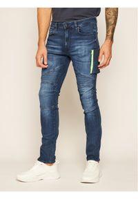 Guess Jeansy Skinny Fit Skid M0YA28 D42Y1 Granatowy Skinny Fit. Kolor: niebieski. Materiał: jeans