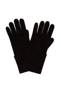 Czarne rękawiczki William Sharp eleganckie, na zimę