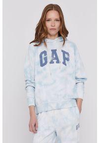 Niebieska bluza GAP z długim rękawem, długa
