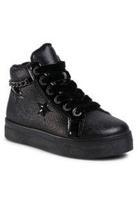 Nelli Blu - Sneakersy NELLI BLU - CSL19045-01A Black. Kolor: czarny. Materiał: syntetyk, futro. Wzór: aplikacja