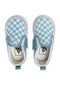 Vans - Tenisówki VANS - Slip-On V VN0A348830Y1 (Checkerbrd)Dlphnmbltrwht. Okazja: na spacer. Zapięcie: bez zapięcia. Kolor: niebieski. Materiał: materiał. Szerokość cholewki: normalna