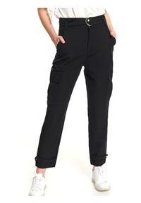 Czarne spodnie TOP SECRET na co dzień, długie, casualowe