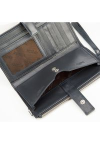 Wittchen - Damski portfel ze skóry z funkcją kopertówki. Materiał: skóra. Wzór: gładki