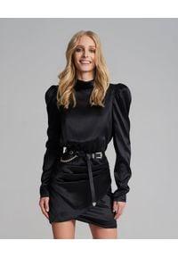 SELF LOVE - Jedwabna sukienka Cannes. Kolor: czarny. Materiał: jedwab. Typ sukienki: kopertowe, dopasowane. Styl: elegancki. Długość: mini