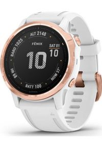 GARMIN - Zegarek sportowy Garmin Fenix 6S Pro Biały (010-02159-11). Kolor: biały. Styl: sportowy