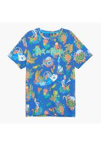 Cropp - Koszulka Rick and Morty - Niebieski. Kolor: niebieski