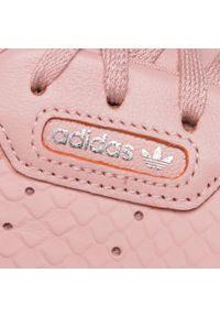 Różowe półbuty Adidas z cholewką, casualowe