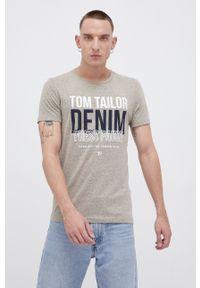 Tom Tailor - T-shirt. Okazja: na co dzień. Kolor: zielony. Materiał: dzianina. Wzór: nadruk. Styl: casual