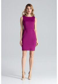 Różowa sukienka Figl bez rękawów, ołówkowa