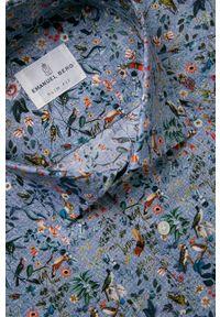 Wielokolorowa koszula Emanuel Berg na co dzień, w kwiaty, długa
