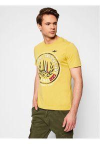 Żółty t-shirt Aeronautica Militare