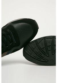 Czarne sneakersy Jack & Jones na sznurówki, z cholewką