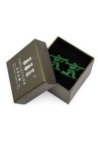 Adam Collection - Zielone spinki do mankietów - żołnierzyki A232. Kolor: zielony