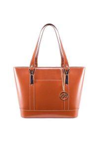 Brązowa torba na laptopa MCKLEIN klasyczna