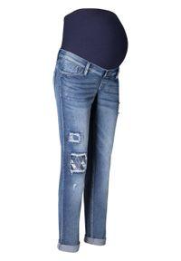 Niebieskie jeansy bonprix eleganckie, moda ciążowa