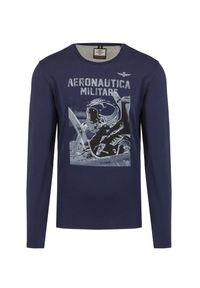 Aeronautica Militare - T-shirt AERONAUTICA MILITARE. Okazja: na co dzień. Materiał: bawełna. Długość rękawa: długi rękaw. Długość: długie. Wzór: nadruk, moro. Styl: militarny, casual, klasyczny