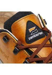 Żółte buty trekkingowe Zamberlan trekkingowe