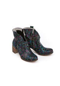 Botki Zapato z okrągłym noskiem, na zamek, na jesień, eleganckie