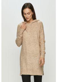 Beżowy sweter Jacqueline de Yong długi, z długim rękawem