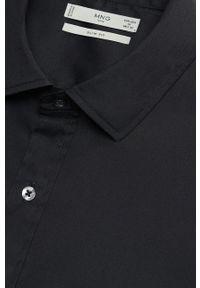 Czarna koszula Mango Man klasyczna, z długim rękawem