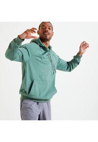 DOMYOS - Bluza z kapturem męska Domyos fitness. Typ kołnierza: kaptur. Materiał: poliester, materiał, elastan. Sport: fitness