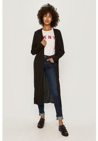 Czarny sweter rozpinany DKNY