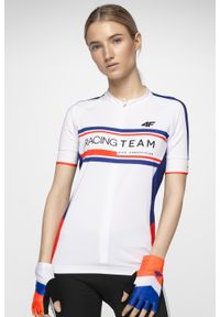 Biała koszulka rowerowa 4f