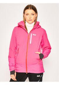 Jack Wolfskin Kurtka snowboardowa Big White 1111621-2054 Różowy Regular Fit. Kolor: różowy. Sport: snowboard