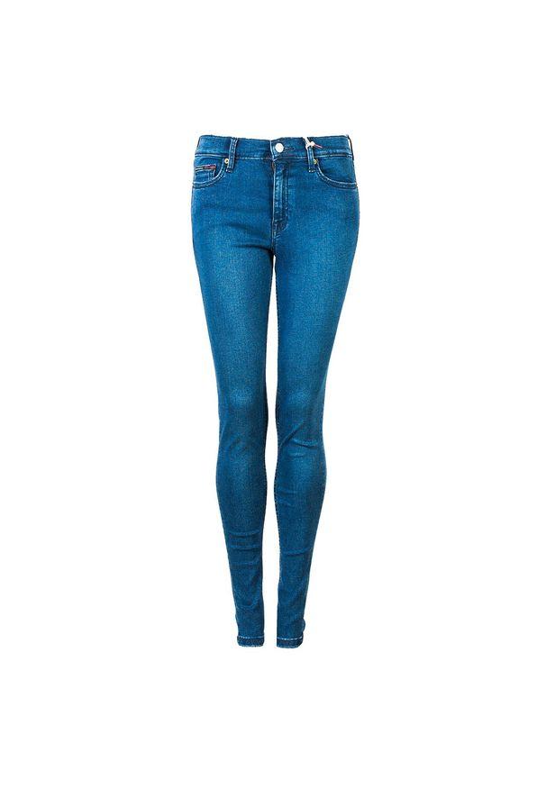 """TOMMY HILFIGER - Tommy Jeans Jeansy """"Nora"""". Materiał: jeans. Wzór: aplikacja"""
