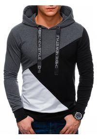 Czarna bluza Ombre Clothing z kapturem, klasyczna, na co dzień