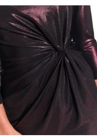 TOP SECRET - Sukienka damska gładka, kolorowa. Okazja: na imprezę. Kolor: fioletowy. Materiał: tkanina. Wzór: gładki, kolorowy. Sezon: jesień, zima #3