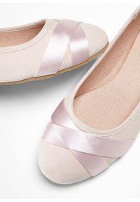 Różowe baleriny bonprix bez zapięcia