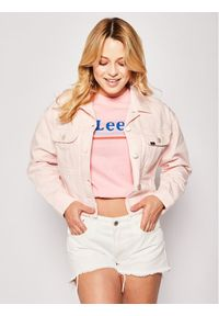 Różowa kurtka jeansowa Lee