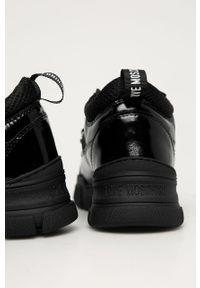 Czarne buty sportowe Love Moschino z cholewką, na sznurówki