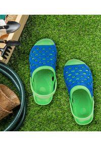 REALPAKS - Klapki dziecięce Realpaks SLD-07/2 Niebieskie. Okazja: na plażę. Kolor: niebieski. Materiał: tworzywo sztuczne. Styl: młodzieżowy