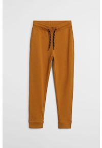 Żółte spodnie Mango Kids