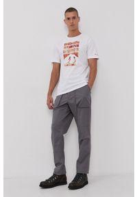 columbia - Columbia - Spodnie. Okazja: na co dzień. Kolor: szary. Materiał: tkanina. Wzór: gładki. Styl: casual