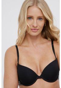 Emporio Armani Underwear - Biustonosz. Kolor: czarny. Materiał: materiał. Rodzaj stanika: odpinane ramiączka