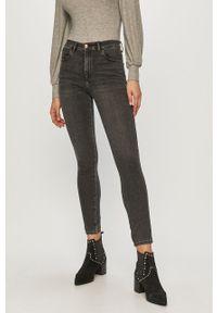 Szare jeansy Wrangler z podwyższonym stanem