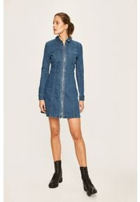 Niebieska sukienka Noisy may na co dzień, mini, casualowa