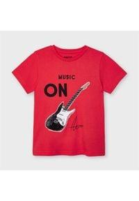 Mayoral T-Shirt 3048 Czerwony Regular Fit. Kolor: czerwony