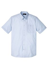Fioletowa koszula bonprix krótka, z nadrukiem, z krótkim rękawem