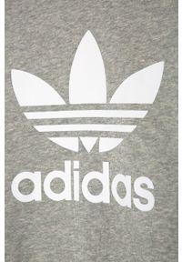 Szara bluza adidas Originals bez kaptura, casualowa