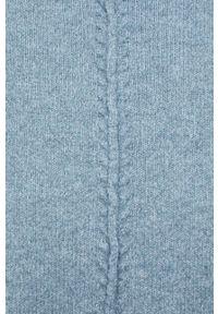 Noisy may - Noisy May - Sweter. Typ kołnierza: golf. Kolor: niebieski. Materiał: dzianina. Długość rękawa: długi rękaw. Długość: długie