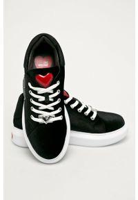 Różowe buty sportowe Love Moschino na sznurówki, z cholewką