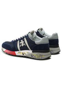 Premiata Sneakersy Lander 3756 Granatowy. Kolor: niebieski