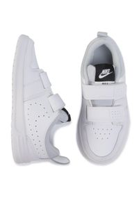 Białe półbuty Nike na spacer, z cholewką, na rzepy
